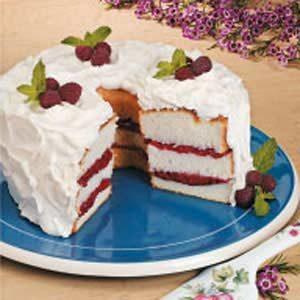 Rhubarb-Orange Angel Food Torte