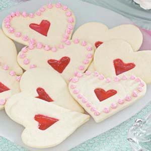Stained Glass Heart Cutout Cookies