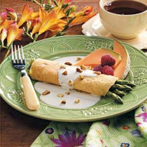 Asparagus in Corn Crepes