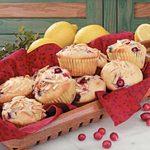 Lemon Cranberry Muffins