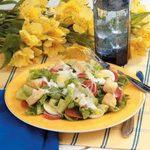 Quick Pepperoni Caesar Salad