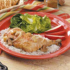 Cumin Chicken With Apples