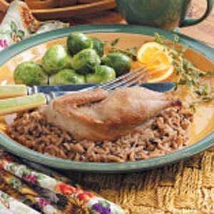 Partridge with Wild Rice