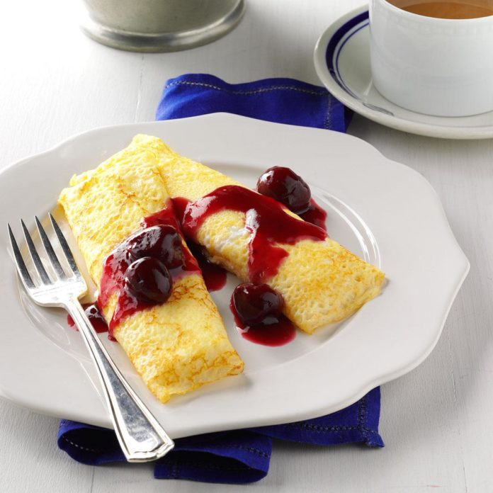 Alaska: Cherry Cheese Blintzes
