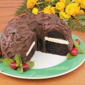 Chocolate Cake with Peanut Butter Filling