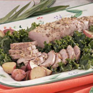 Herbed Pork Tenderloin and Potatoes