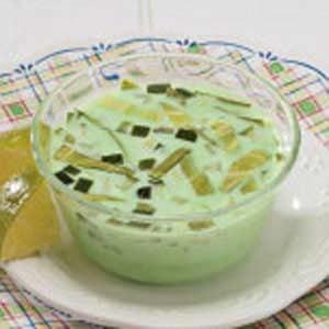 Cabbage-Cucumber Gelatin Cups