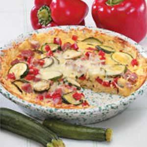 Vegetable Potato Quiche