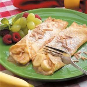 Creamy Banana Crepes