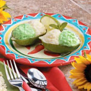 Easy Lime Sundaes