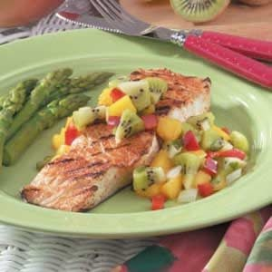 Halibut with Kiwi Salsa