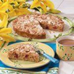 Makeover Almond Rhubarb Coffee Cake