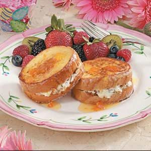 Stuffed French Toast with Apricot Syrup