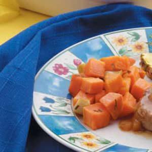 Baked Garlic Sweet Potatoes