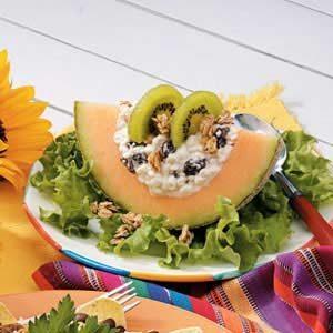 Cottage Cheese Cantaloupe Salad