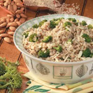 Broccoli Brown Rice Pilaf