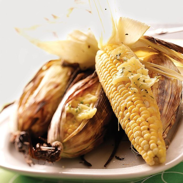 Grilled Corn with Chive Butter