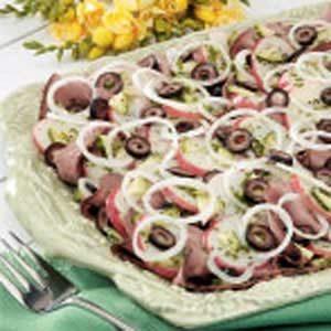 Potato Roast Beef Salad