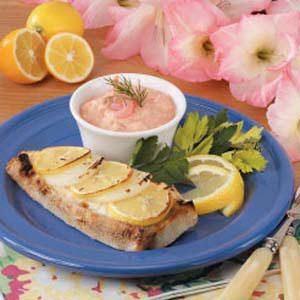 Halibut with Shrimp Sauce