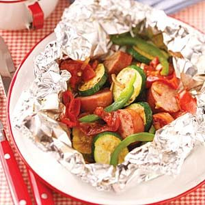 Sausage Vegetable Packets