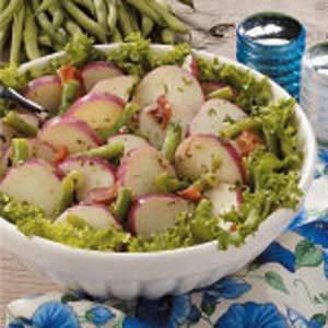 Green Bean Potato Salad with Herb Dressing