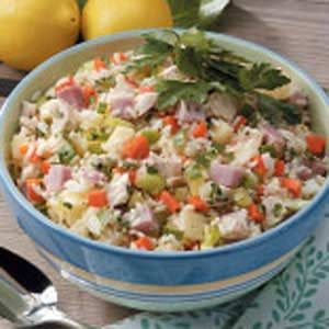 Hearty Chicken and Rice Salad