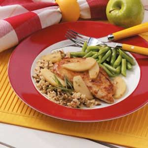 Tarragon Chicken with Apples for Two
