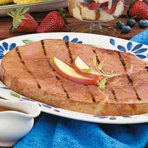 Grilled Mango-Glazed Ham