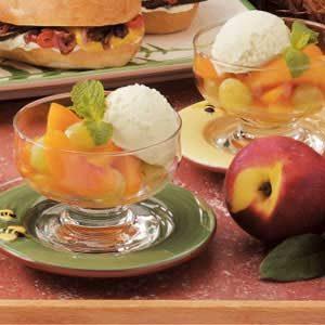 Grape Nectarine Dessert Cups