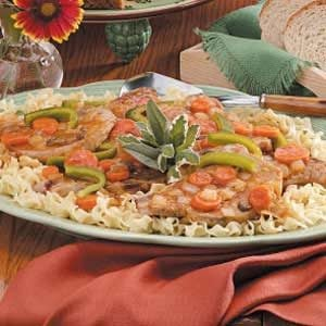 Saucy Pork Chops with Vegetables