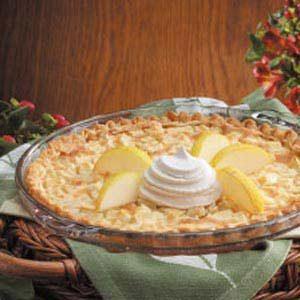 Pear Custard Pie