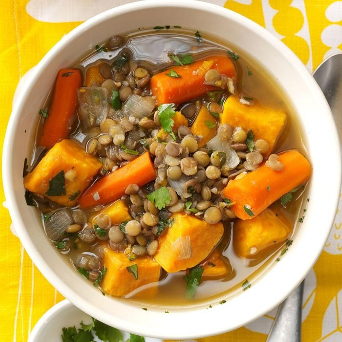 Day 12: Sweet Potato Lentil Stew