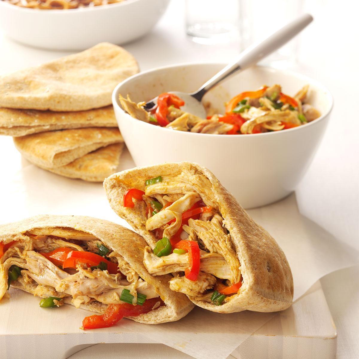 Asian-Style Turkey Pitas
