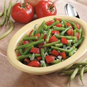 Garlic Green Beans with Tomatoes