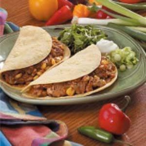 Pork Soft-Shell Tacos