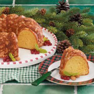 Almond Eggnog Pound Cake