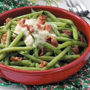 Beans with Celery Bacon Sauce