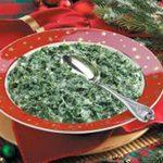 Creamed Fresh Spinach