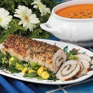 Herb-Stuffed Pork Loin