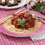 Festive Spaghetti 'n' Meatballs