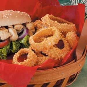 Savory Baked Onion Rings