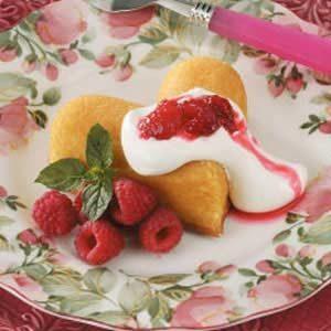 Raspberry Cake Hearts