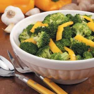 Broccoli With Yellow Pepper