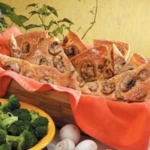 Mushroom Bread Wedges