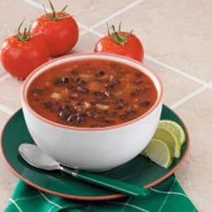 Black Bean Soup for Two