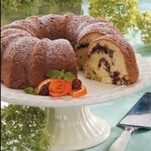 Cran-Orange Coconut Cake