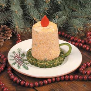 Christmas Candle Cheese Spread