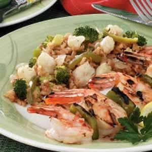 Broccoli and Cauliflower Rice Medley