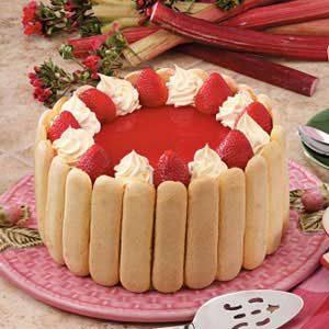 Rhubarb Strawberry Torte