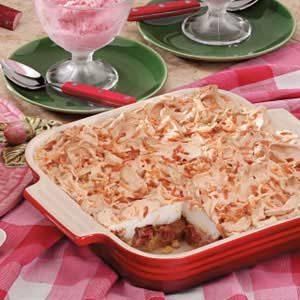 Rhubarb Angel Dessert